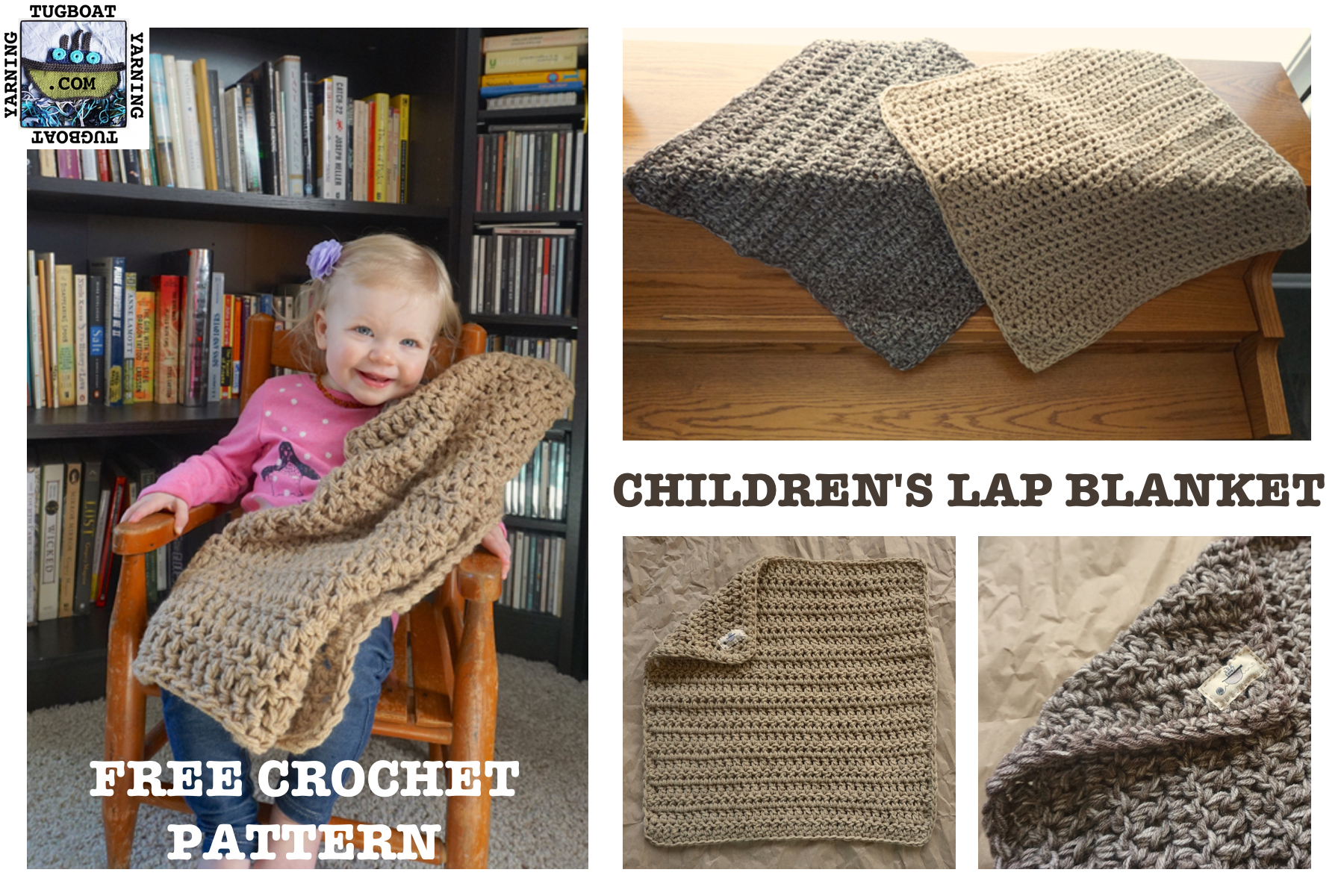 Children's Lap Blanket: Free Crochet Pattern
