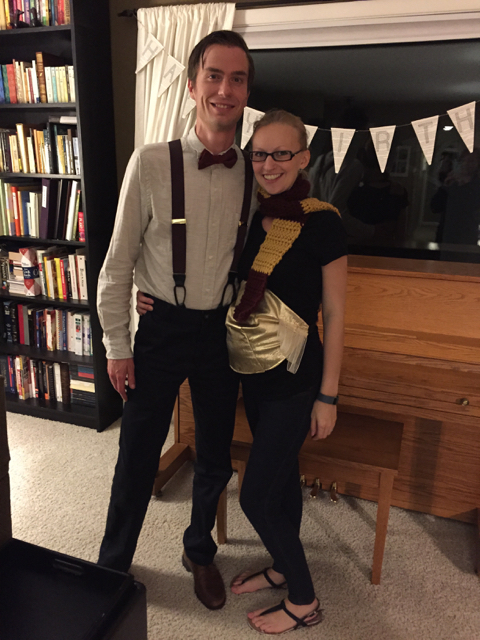 And the Birthday Nerds: The Doctor [Brad], Harry Potter [Maggie], and the Snitch in tow [H-G Hope Baby]